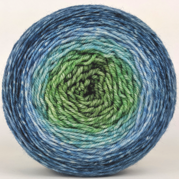 Knitcircus Yarns: Beach Glass 100g Panoramic Gradient, Flying Trapeze, ready to ship yarn