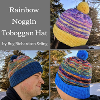 Rainbow Noggin Toboggan Yarn Pack, pattern not included, ready to ship