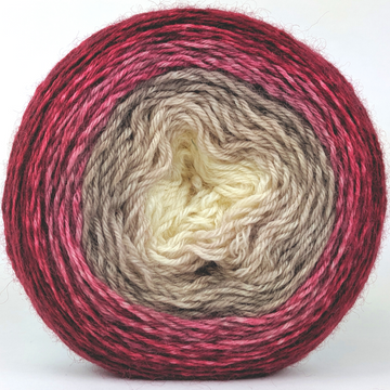 Knitcircus Yarns: Old Saint Nick 100g Panoramic Gradient, Breathtaking BFL, ready to ship yarn