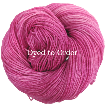 Knitcircus Yarns: Persist Pink Kettle-Dyed Semi-Solid skeins, dyed to order yarn