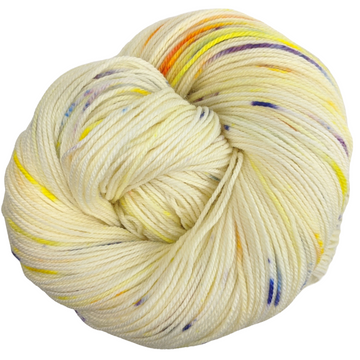 Knitcircus Yarns: Busy Bee 100g Speckled Handpaint skein, Flying Trapeze, ready to ship yarn
