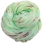 Knitcircus Yarns: Mint Chocolate Chip 100g Speckled Handpaint skein, Trampoline, ready to ship yarn