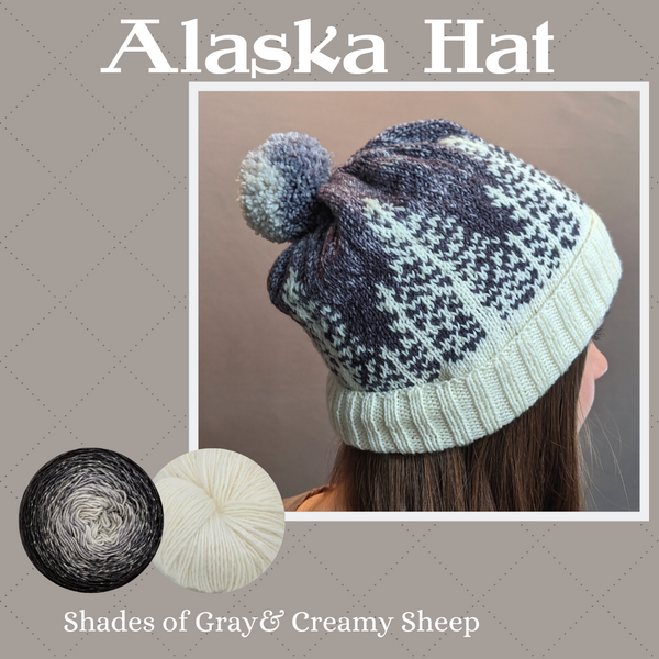 Alaska Hat Yarn Pack, pattern not included, ready to ship