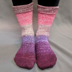 Knitcircus Yarns: Fig and Prosciutto Panoramic Gradient Matching Socks Set, dyed to order yarn
