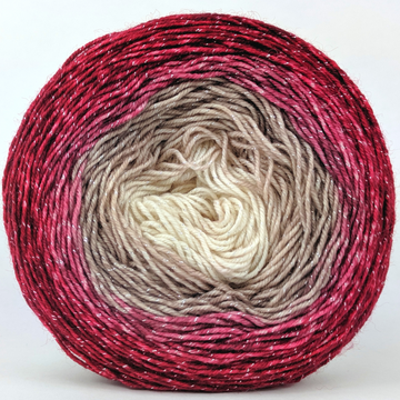 Knitcircus Yarns: Old Saint Nick 100g Panoramic Gradient, Sparkle, ready to ship yarn