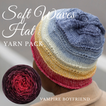 Soft Waves Hat Yarn Pack, pattern not included, dyed to order
