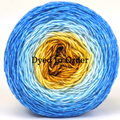 Knitcircus Yarns: Great Day for Hay Panoramic Gradient, dyed to order yarn