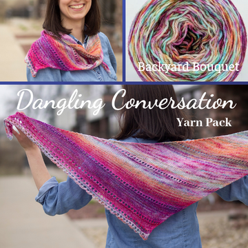 Dangling Conversation Yarn Pack, pattern not included, dyed to order