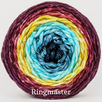Knitcircus Yarns: Return of the King Panoramic Gradient, dyed to order yarn