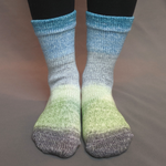 Knitcircus Yarns: Growing Like A Weed Panoramic Gradient Matching Socks Set, dyed to order yarn