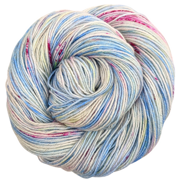 Knitcircus Yarns: Shabby Chic 100g Speckled Handpaint skein, Sparkle, ready to ship yarn