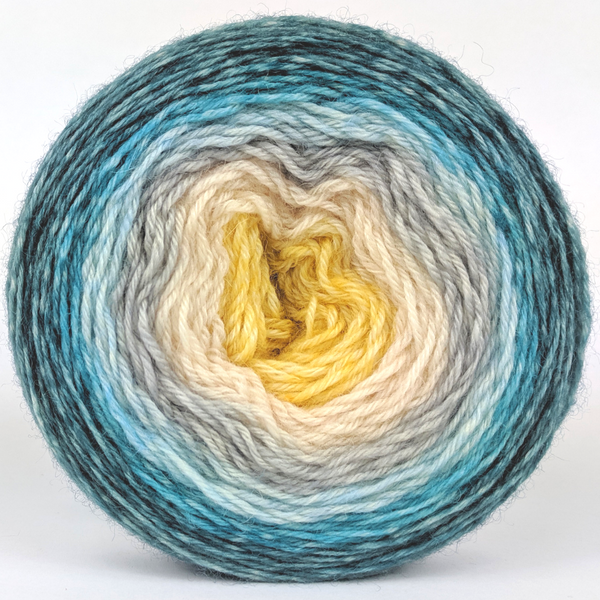 Knitcircus Yarns: Sea of Tranquility 100g Panoramic Gradient, Breathtaking BFL, ready to ship yarn