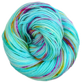 Knitcircus Yarns: We Scare Because We Care 100g Speckled Handpaint skein, Flying Trapeze, ready to ship yarn