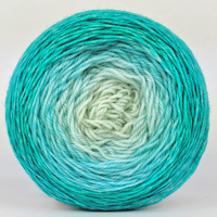 Knitcircus Yarns: Surf's Up 100g Chromatic Gradient, Flying Trapeze, ready to ship yarn