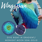 Wingspan Shawl Yarn Pack, pattern not included, dyed to order
