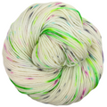 Knitcircus Yarns: Electric Mayhem 100g Speckled Handpaint skein, Greatest of Ease, ready to ship yarn