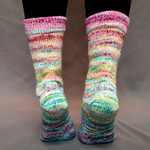 Knitcircus Yarns: Girls Run the World Impressionist Gradient Matching Socks Set, dyed to order yarn