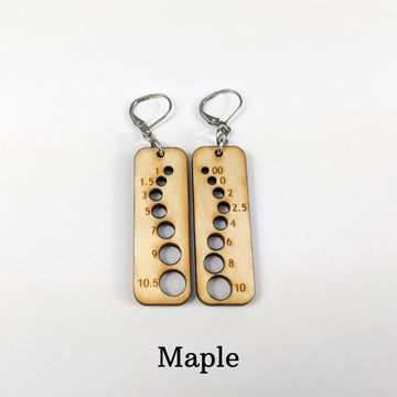 Needle Gauge Earrings, ready to ship - SALE