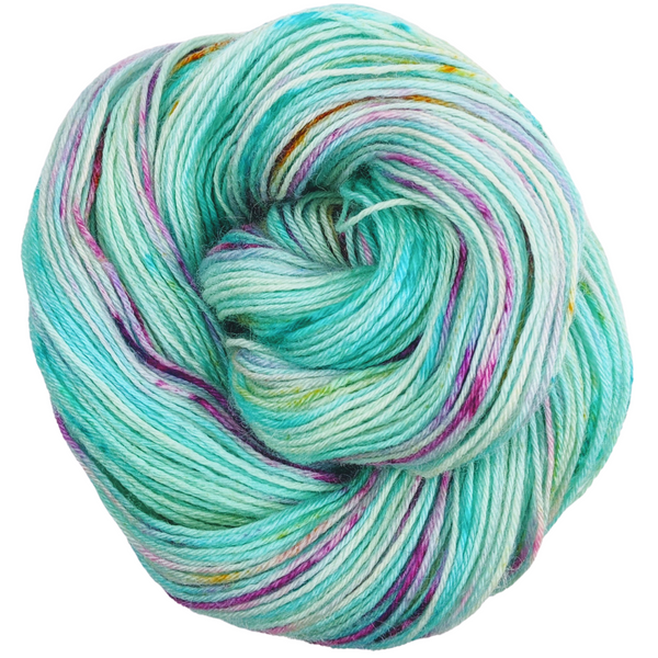 Knitcircus Yarns: We Scare Because We Care 100g Speckled Handpaint skein, Breathtaking BFL, ready to ship yarn