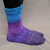 The Knit Sky Panoramic Gradient Matching Socks Set, dyed to order