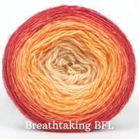 Knitcircus Yarns: Peachy Keen Panoramic Gradient, dyed to order yarn