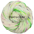 Knitcircus Yarns: Electric Mayhem Speckled Handpaint Skeins, dyed to order yarn