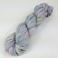 Knitcircus Yarns: Cotton Candy Explosion 100g Speckled Handpaint skein, Flying Trapeze, ready to ship yarn - SALE