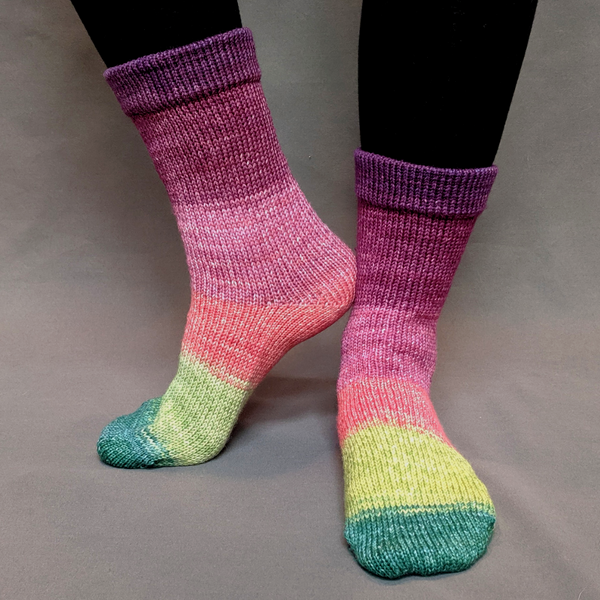 Knitcircus Yarns: Just Beet It Panoramic Gradient Matching Socks Set (medium), Greatest of Ease, ready to ship yarn