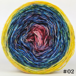Knitcircus Yarns: Pippi Longstocking 100g Impressionist Gradient, Breathtaking BFL, choose your cake, ready to ship yarn