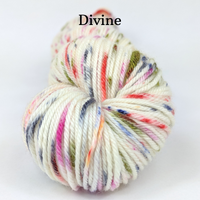 Knitcircus Yarns: Big Top Birthday Speckled Handpaint Skeins, dyed to order yarn
