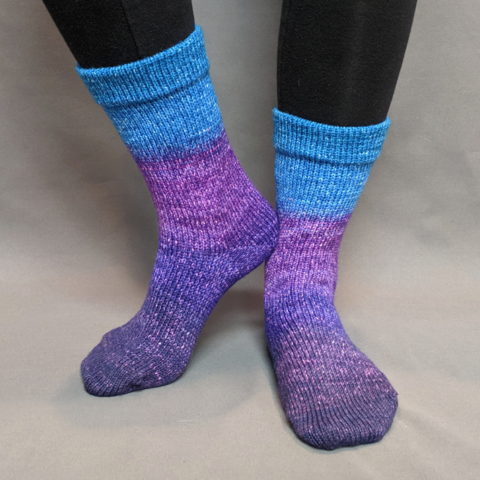 The Knit Sky Panoramic Gradient Matching Socks Set (large), Greatest of Ease, ready to ship
