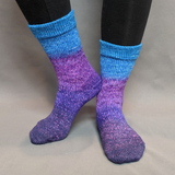 The Knit Sky Panoramic Gradient Matching Socks Set (medium), Greatest of Ease, ready to ship