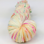 Knitcircus Yarns: Hip Hip Hooray 100g Speckled Handpaint skein, Spectacular, ready to ship yarn