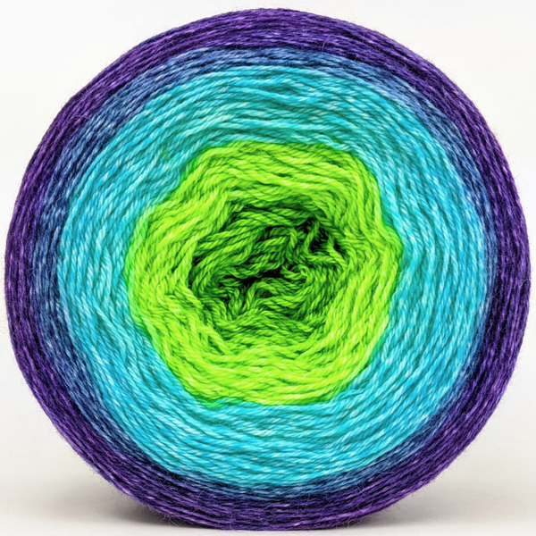 Knitcircus Yarns: Monstropolis Monster 300g Panoramic Gradient, Opulence, ready to ship yarn