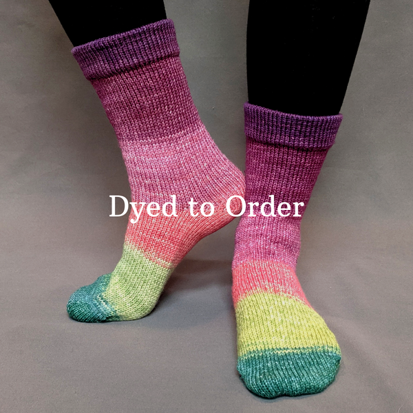 Knitcircus Yarns: Just Beet It Panoramic Gradient Matching Socks Set, dyed to order yarn