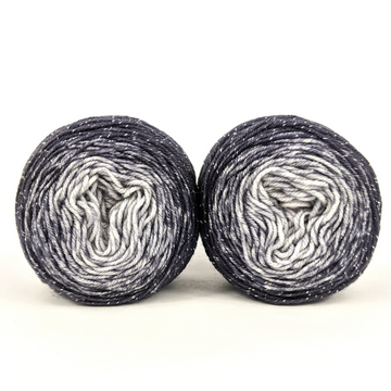 Knitcircus Yarns: Shades of Gray Panoramic Gradient Matching Socks Set (small), Sparkle, ready to ship yarn