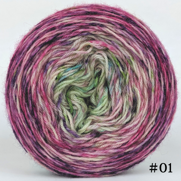 Knitcircus Yarns: Many Happy Returns 100g Impressionist Gradient, Breathtaking BFL, choose your cake, ready to ship yarn