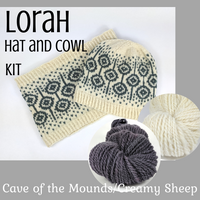Lorah Hat and Cowl Kit, dyed to order - SALE
