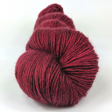 Knitcircus Yarns: Cranberry Sauce 100g Kettle-Dyed Semi-Solid skein, Breathtaking BFL, ready to ship yarn