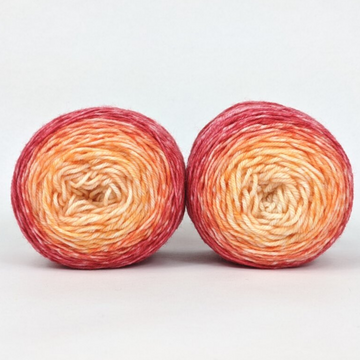 Knitcircus Yarns: Peachy Keen Panoramic Gradient Matching Socks Set (medium), Greatest of Ease, ready to ship yarn