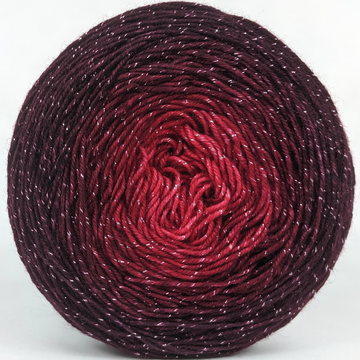 Knitcircus Yarns: Vampire Boyfriend 100g Chromatic Gradient, Sparkle, ready to ship yarn
