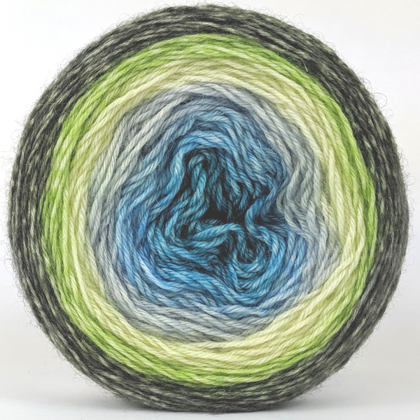 Knitcircus Yarns: Growing Like A Weed 100g Panoramic Gradient, Breathtaking BFL, ready to ship yarn