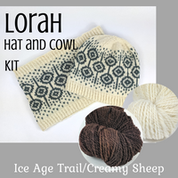 Lorah Hat and Cowl Kit, ready to ship - SALE