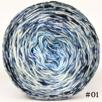 Knitcircus Yarns: Cumulonimbus 100g Impressionist Gradient, Flying Trapeze, choose your cake, ready to ship yarn