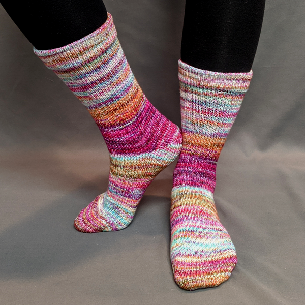 Knitcircus Yarns: Backyard Bouquet Modernist Matching Socks Set (large), Greatest of Ease, choose your cakes, ready to ship yarn