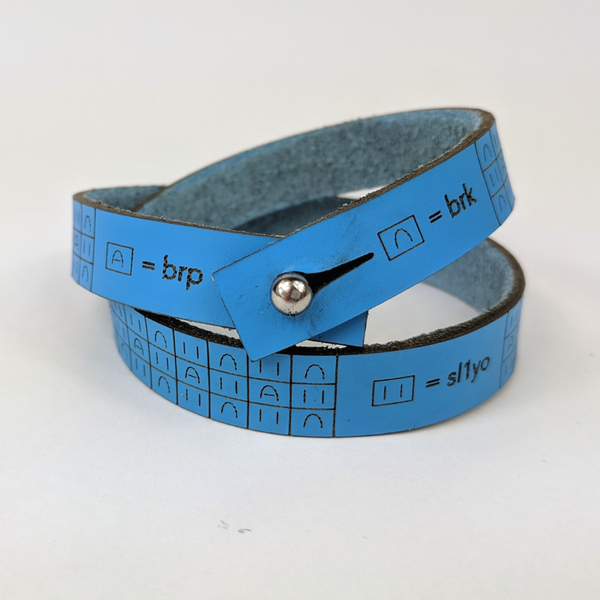 Ruler Leather Bracelet and Brioche Bracelet, asst colors and sizes, ready to ship