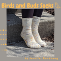Birds and Buds Socks Yarn Pack, pattern not included, dyed to order