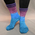 Knitcircus Yarns: Voyage of the Yarn Treader Panoramic Gradient Matching Socks Set (medium), Greatest of Ease, ready to ship yarn