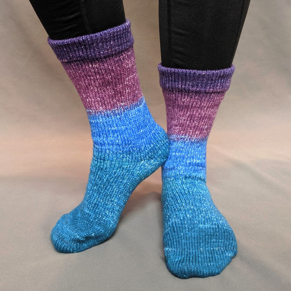 Knitcircus Yarns: Voyage of the Yarn Treader Panoramic Gradient Matching Socks Set (medium), Greatest of Ease, ready to ship yarn - SALE
