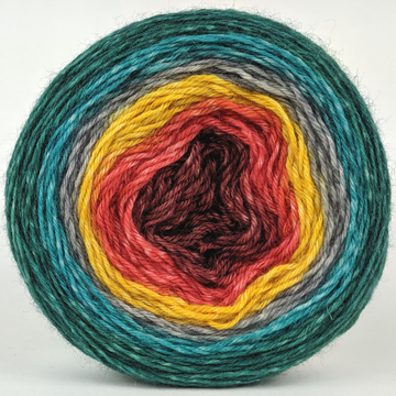 Knitcircus Yarns: Leaf Peeping 100g Panoramic Gradient, Breathtaking BFL, ready to ship yarn
